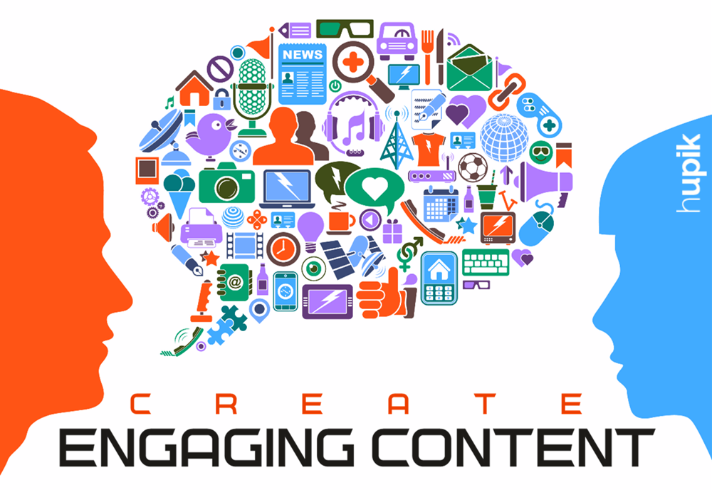 Create Engaging Content - Hupik
