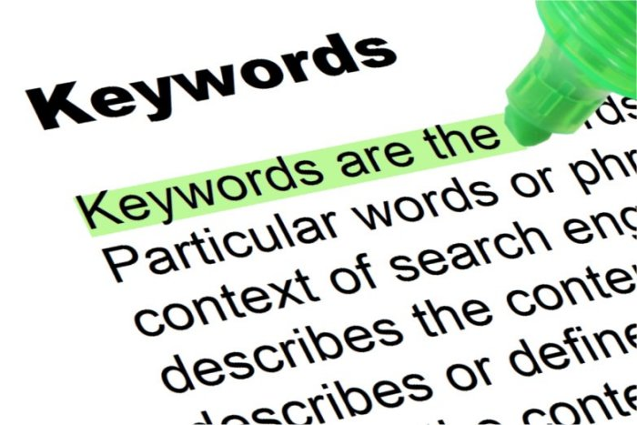 how to determine potential keywords